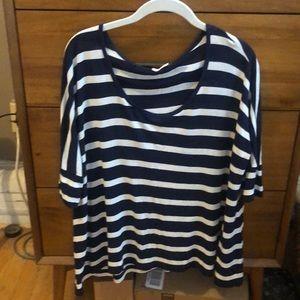 AG Navy/white striped top - size xs